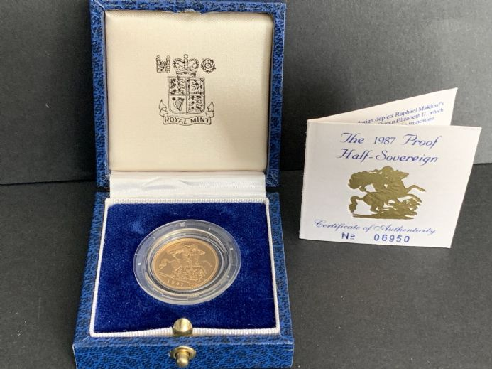 1987 Proof Half  Gold Sovereign